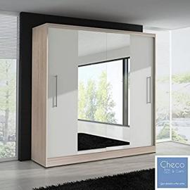 FAST&FREE DELIVERY BRAND NEW SLIDING DOOR WARDROBE 6 ft 8 inch (204cm) 'MIRROR II - ASH'