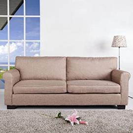 Leader Lifestyle Chester 3 Seater Sofa, Mink Brown