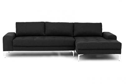 Venice Corner Sofa in Anthracite Grey - Right