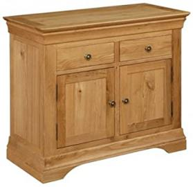 Brown Wood Solid Oak 3' Sideboard Cabinet - Ideal To Provide Extra Storage To Your Living Room