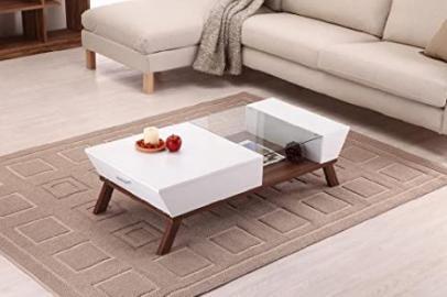 Kress Glass Insert Coffee Table by FurnitureMaxx