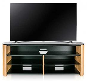 Alphason Finewoods FW1350SB-LO Oak TV Stand with Soundbar Shelf