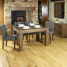 Baumhaus Shiro Walnut Dining Table (4 Seater)