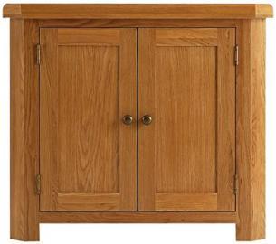 Pembroke oak furniture corner storage cabinet stand