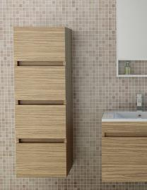 Bathroom Cabinet Kufstein in dark wood