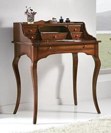 Classic Writing Desk with Drawers–Walnut