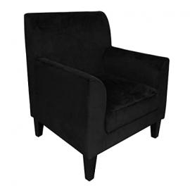 Protege Homeware Cotton Velvet Black Medan Chair
