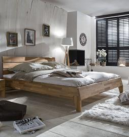 Bed 160 x 200 cm Solid Wild Oak Oiled Natural