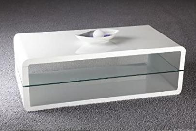 Vivian Cube Coffee Table High Gloss with Glass