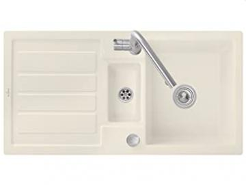Villeroy Boch Flavia &60 Beige Ivory Kitchen Sink Fitting with Ceramic Sink
