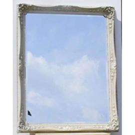"Large Shabby Chic Ivory California Mirror (3ft 7"" x 4ft 7"")"