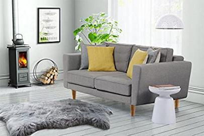 MY-Furniture Luciene 2 seat sofa Malaga Steel