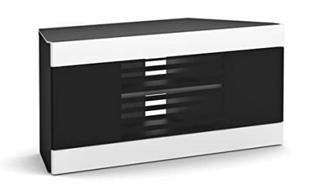 Elmob LI110-06-FX Corner Cabinet with Cantilever Mount Bracket for TV - White