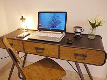 Industrial Vintage Console Desk Office Side Hall 3 Drawer Sideboard Table 125cm