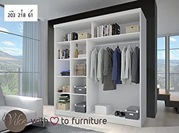 2 sliding door Wardrobe MU 203 wide Perfect interior UK stock