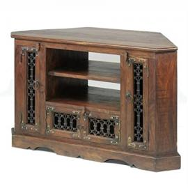 Jali Sheesham Corner TV Cabinet - Furniture