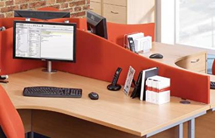 Wave Desk Screen - Length: 40 MM; Width: 1200 MM; Height: 400 MM; Color: Charcoal