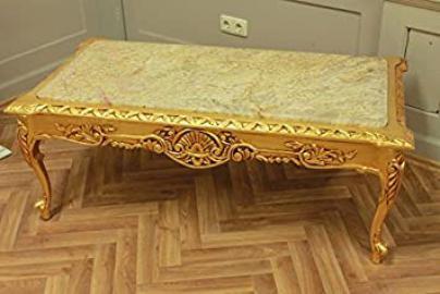 Marble beige, Baroque Coffee Table Antique Baroque Rococo AlTa0253BGoBg