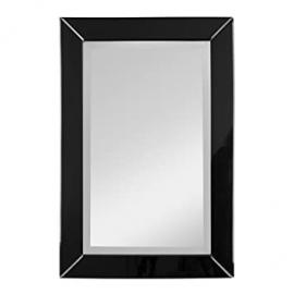 Protege Homeware MDF / Glass Black Frame Orchid Wall Mirror
