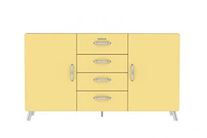 Tenzo Cobra Designer Sideboard, Wood, Lemon, 92 x 163 x 43 cm