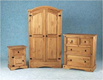 MEXICAN CORONA BEDROOM SET TRIO DEAL