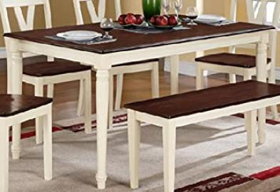 Two Tone Finish Rectangular Dining Table by Poundex