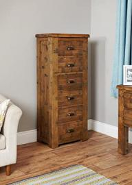 Baumhaus Heyford Rough Sawn Oak Tallboy Chest of Drawers (6 Drawer)
