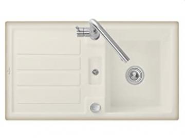 Villeroy & Boch 50 Flavia Cappuccino Beige Kitchen Sink Ceramic Sink Countertop Sink