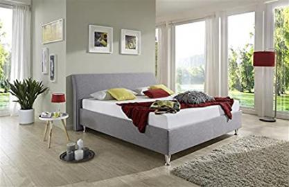 Breckle, Upholstered Bed 160 x 200 cm 28 cm high strength 3 Set Tyree Flush Leather Look Brown