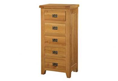 Heartlands Acorn 5 Drawer Narrow Chest
