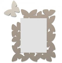 Wall Mirror Butterfly Taupe Made in Italy