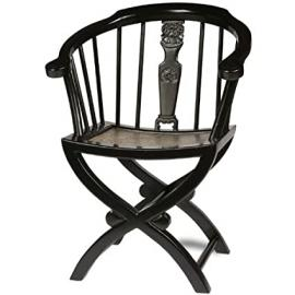 Cross Legged Armchair, Black Lacquer