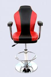 Barstool black/red Faux leather Luxe