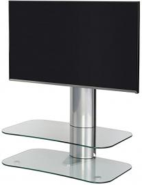 Off-The-Wall ARC ST 800 Clear Glass and Silver TV Stand for up to 50 inch TVs