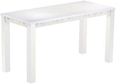 Brasil Furniture High Table 'Rio' 208 x 90 cm, Solid Pine Wood – White Colour