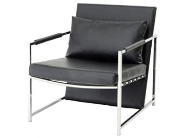 Shefford Black Upholstered Stainless Steel Occasional Chair