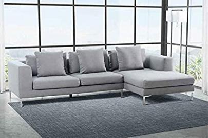 Linear Right Hand Corner Sofa Malaga Steel