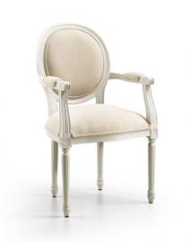 Upholstered armchair : Collection ANTONIETA ANTIQUE WHITE
