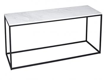 TV Stand - Kensal MARBLE with BLACK base