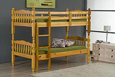 Ideal Furniture Madrid Bunk Bed, Wood, Antique Pine, Single