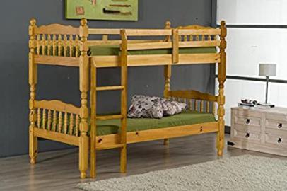 Ideal Furniture Madrid Bunk Bed, Wood, Antique Pine, Single