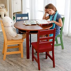 Childrens Walnut Round Table and 4 Chairs Kids Furniture Childrens Furniture Kids Table and Chairs Childrens Chairs