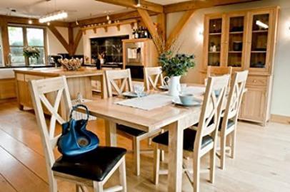 Somerset Oak Furniture dining furniture large extending table