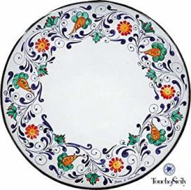"Italian, ""Outdoor Table"", Handmade, ""Custom Furniture"", ""Lava Stone"", Margherita, 23-inch."