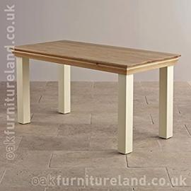Country Cottage Natural Oak and Painted 5ft Dining Table