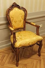 antique dining chair baroque style goldredcoloredr fabric