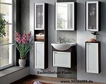 Bathroom furniture set Bath furniture Piano with Washbasin White and Wenge