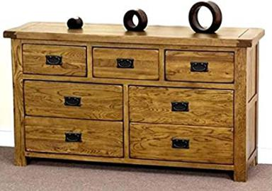Oakly Rustic 3 Over 4 Drawer Wide Chest