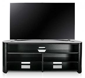 Alphason Finewoods FW1350SB-B Black TV Stand with Soundbar Shelf