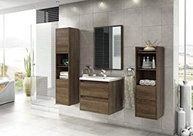 Bathroom LUNA2Wenge Bathroom Furniture Set Bathroom Furniture Basin Sink Vanity 01237